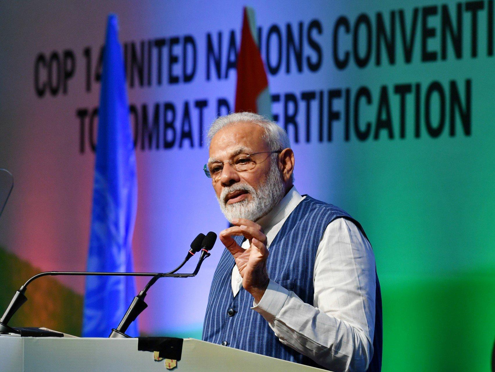 સંયુક્ત રાષ્ટ્રનું COP-14 સંમેલન: આગામી વર્ષોમાં સિંગલ યૂઝ પ્લાસ્ટિક પર લગાવીશું પ્રતિબંધ: PM