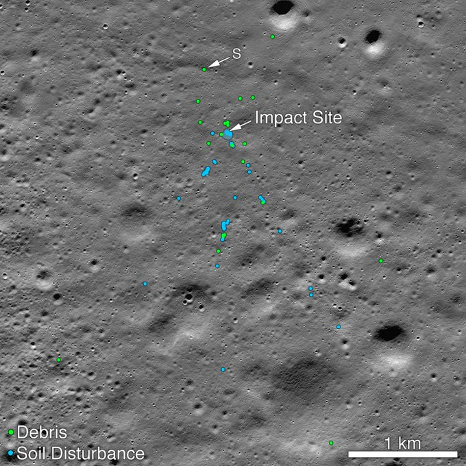 યુએસ સ્પેસ એજન્સી નાસાને ચંદ્રયાન 2 નો વિક્રમ લેન્ડર મળ્યો , NASAનું ટ્વીટ