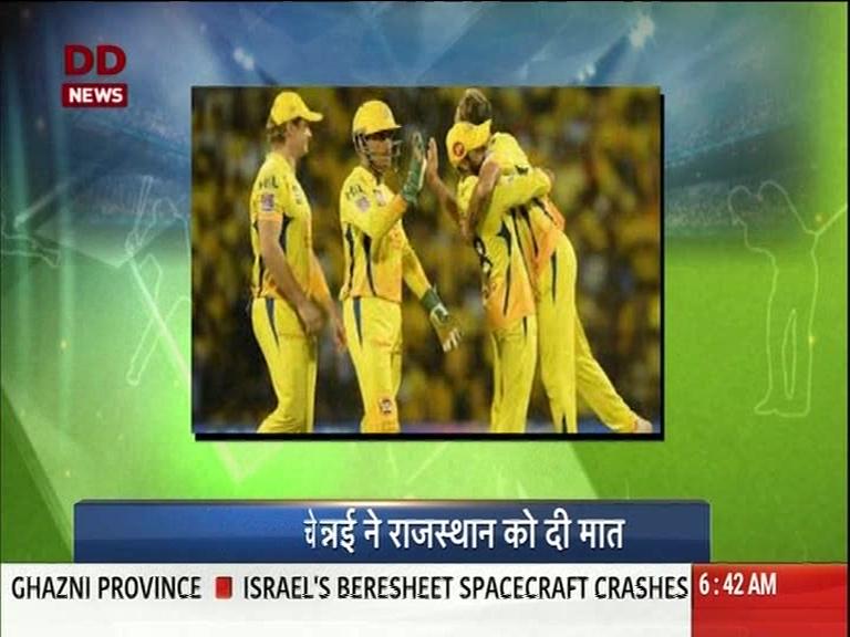 IPL 2019: ચેન્નાઈ સુપર કિંગ્સે રાજસ્થાન રોયલ્સ સામે શાનદાર જીત નોંધાવી