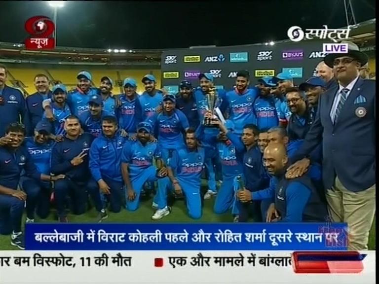ભારતીય ક્રિકેટ ટીમ રેન્કિંગમાં બીજા ક્રમે પહોચી