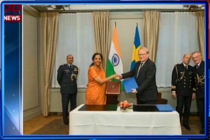 સ્ટોકહોમ ખાતે ભારત-સ્વિડન વચ્ચે સુરક્ષા અંગેના કરારો પર થયા હસ્તાક્ષર